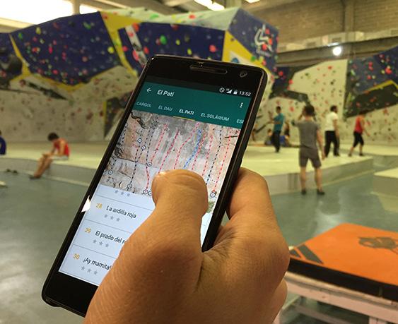 App ressenyes escalada Climb Around.