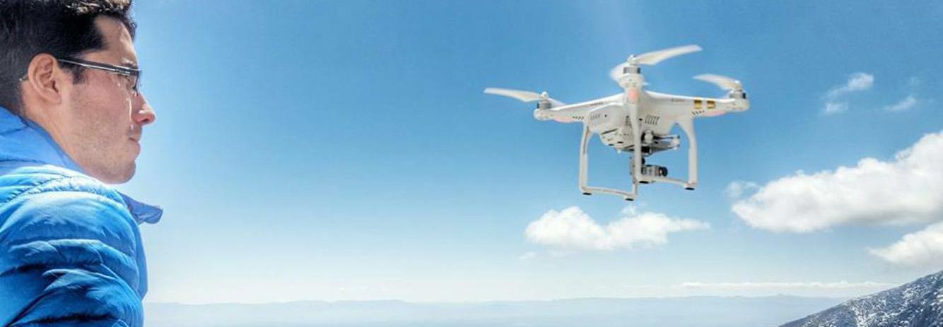 Marc Subirana y su drone.