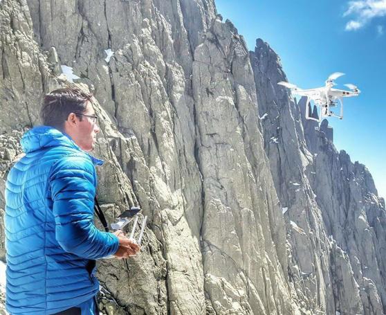 Marc Subirana drone para croquis escalada.