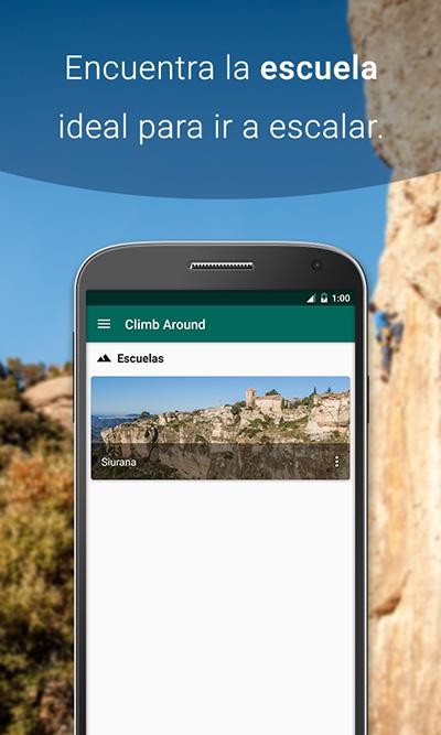 Escuelas de la app de croquis de escalada Climb Around, Siurana.