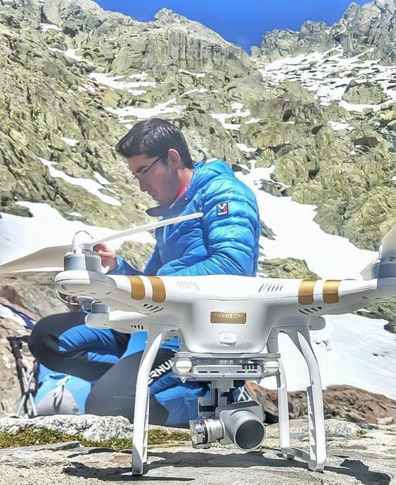 Drone para croquis app escalada.