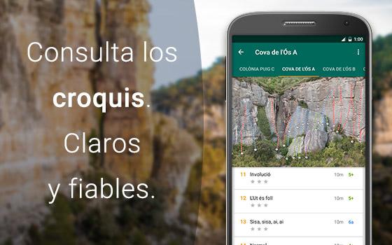 App croquis escalada de Climb Around. Visor de croquis.