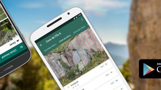Descarga la app de croquis de escalada en Google Play.