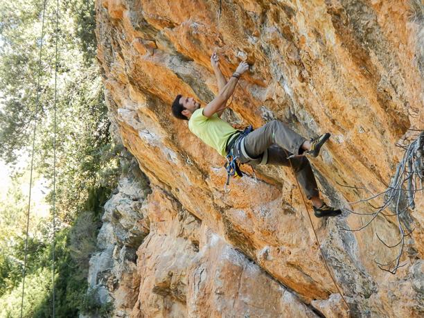 Escalada en roca en Rodellar.