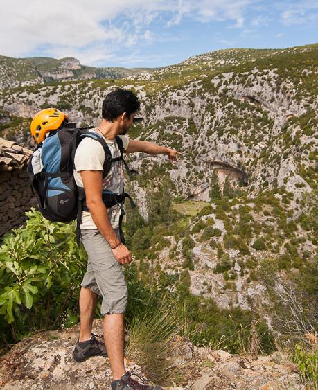 Vista de los sectores de escalada en Rodellar.