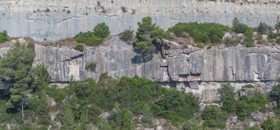 Croquis de escalada en El Castell.