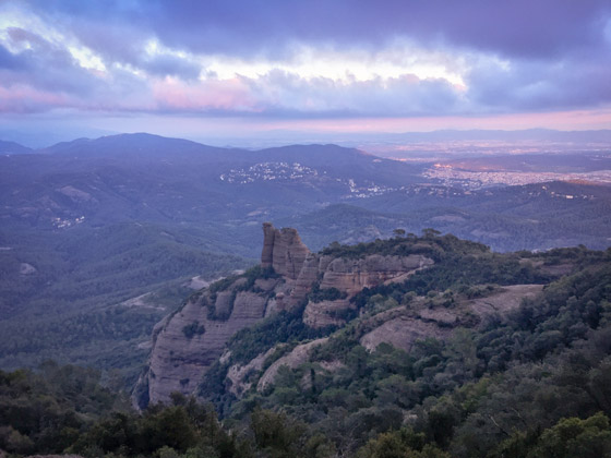 Vistas desde Paret Gran, en Sant Llorenç del Munt.