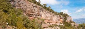 Sant Llorenç del Munt, escalada sobre forat amb microclima