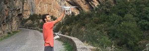 Croquis de escalada en un paraíso de roca