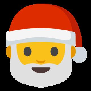 Emoticono Papa Noel, ¡es Navidad!