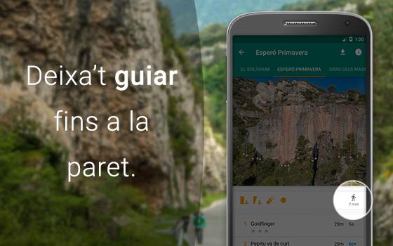 Deixa't guiar fins la paret per l'app de Climb Around.