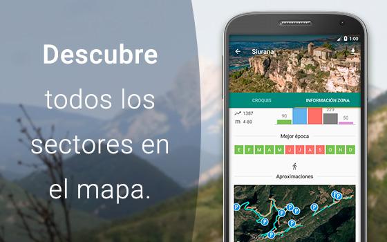 Descubre todos los sectores en el mapa, con Climb Around.