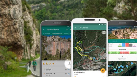 Aproximaciones a los sectores de escalada con la app de Climb Around.