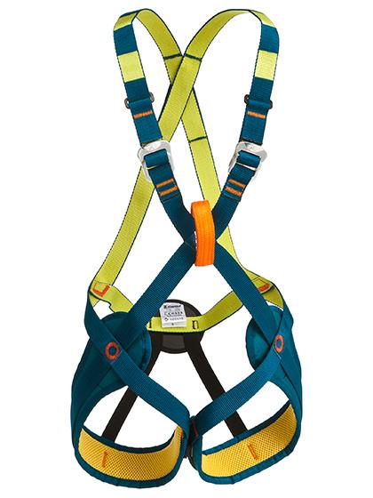 Arnés de escalada completo para niños.