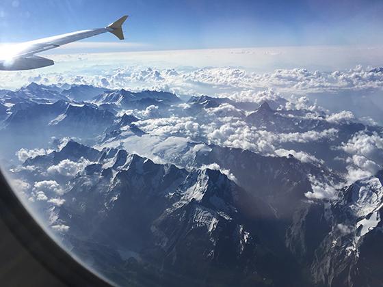Vistes des de l'avió, de camí a Friedrichshafen.