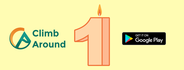Primer año de Climb Around en Google Play.