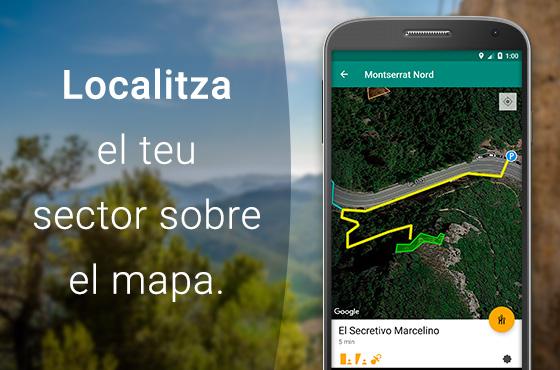 Accés i mapes d'aproximació al sector.