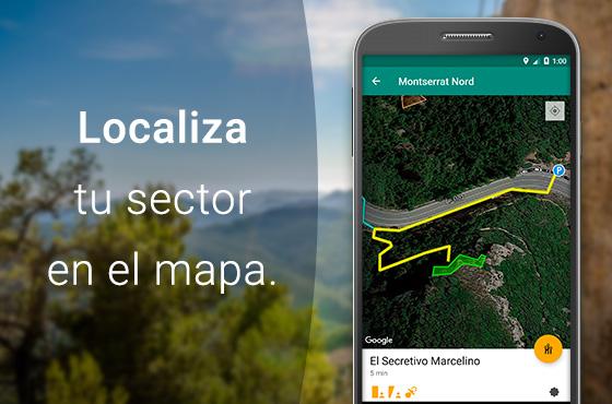 Acceso y mapas de aproximación al sector.