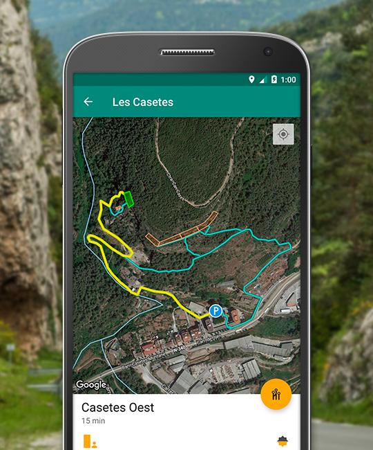Aproximació al sector amb tracks GPS.
