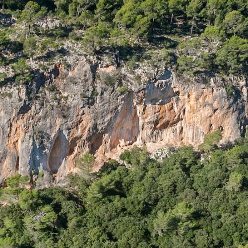 Fraguel, espectacular muro de escalada en Mallorca