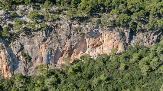 Paret d'escalada de Fraguel, Mallorca